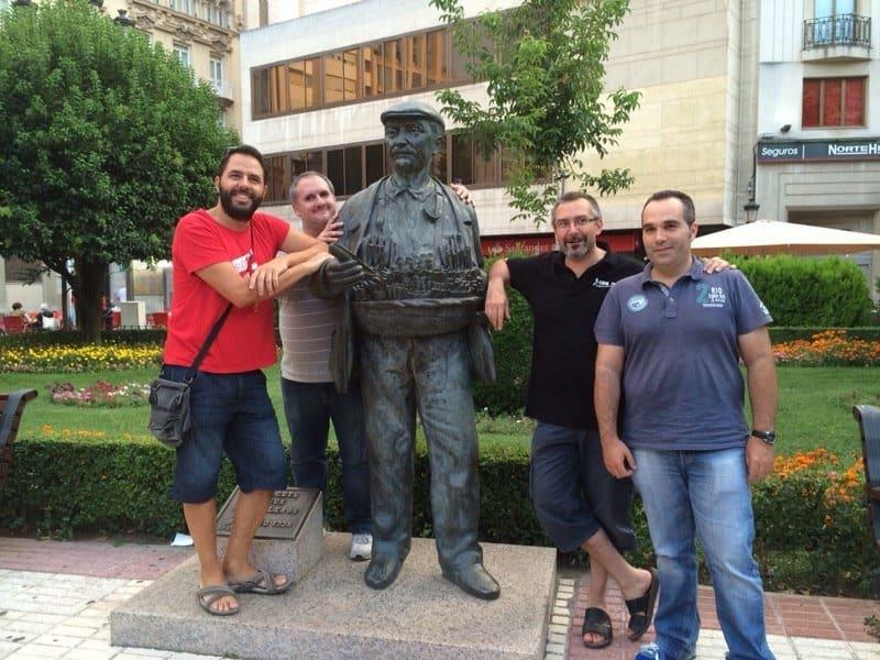 De Izquierda a derecha, Iván Gajate, Carlos Macías, Mario Ezquerro y Ricardo Velasco.