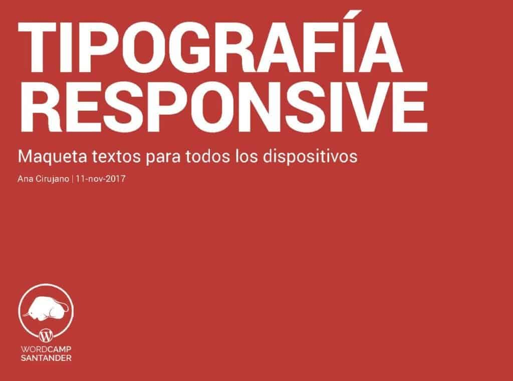 Tipografía Responsive