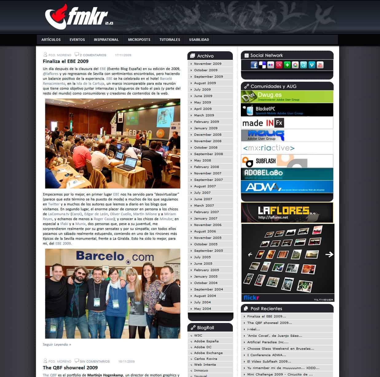 fcomoreno.net en 2009