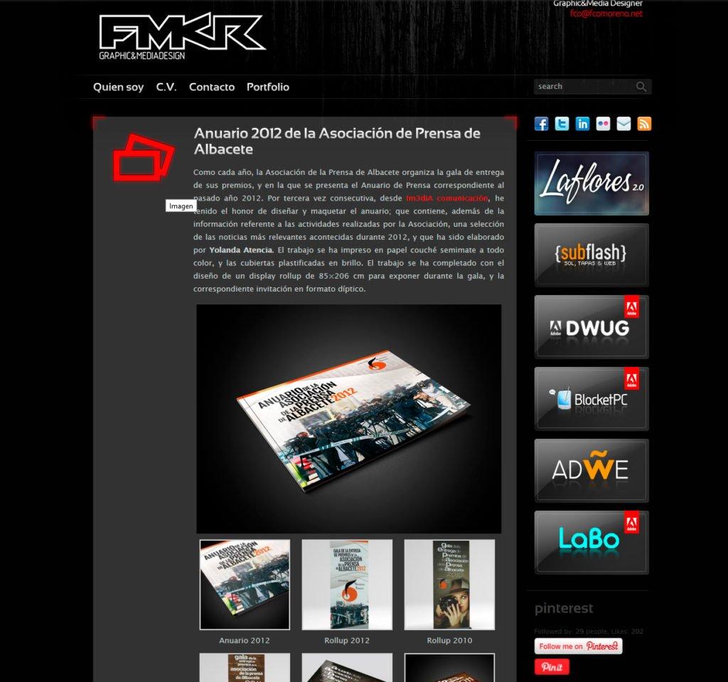 fcomoreno.net en 2012