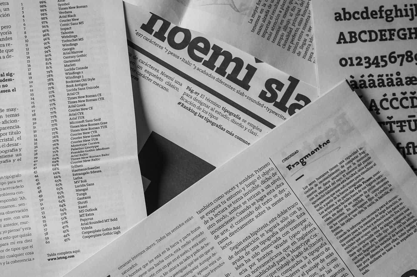 Noemi Slab Typeface